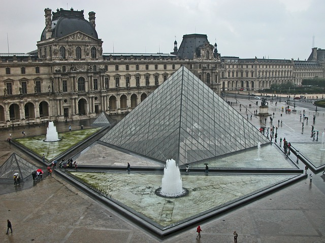 The Louvre Museum and the glass pyramid