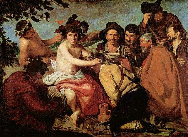 The Triumph of Bacchus of Velazquez Museo del Prado