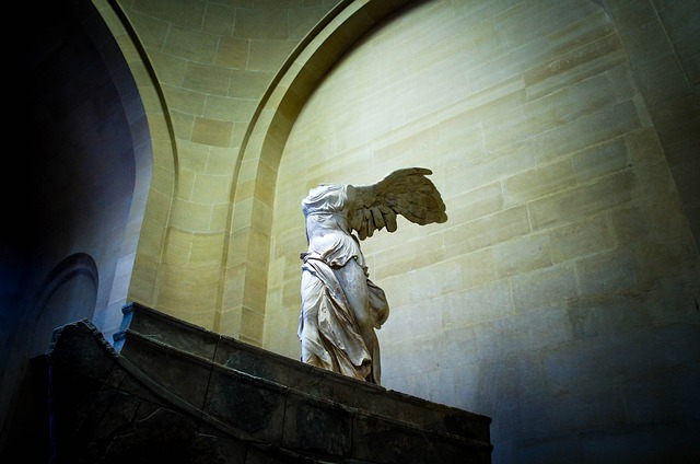 The Winged Victory of Samothrace at the Louvre Museum