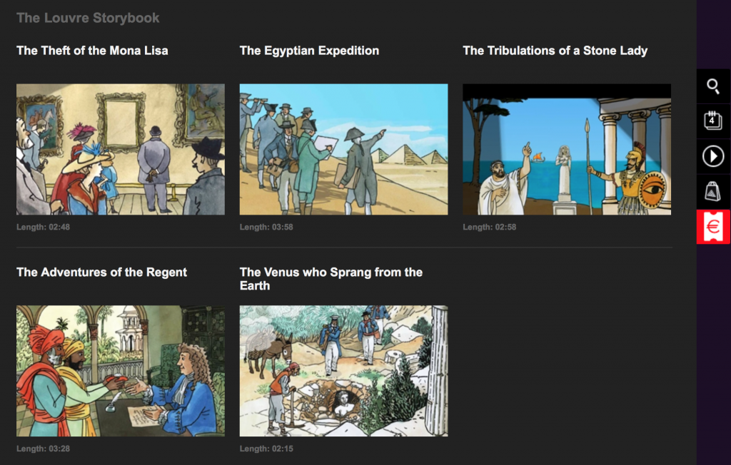The Louvre, animated stories for children