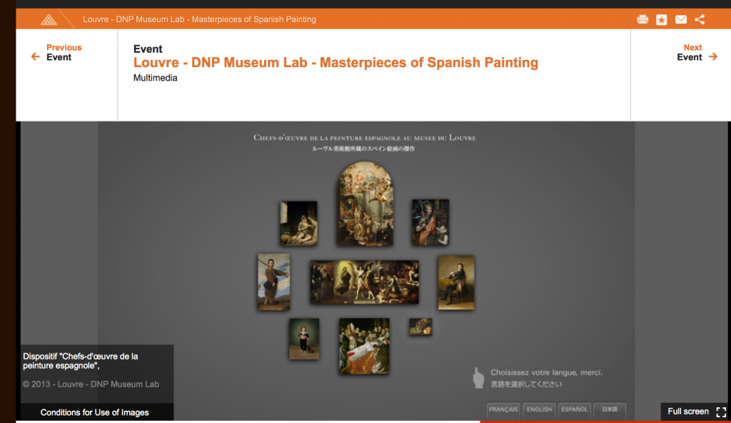 Interactive of the Louvre dedicated to Zurbaran, Murillo and Goya