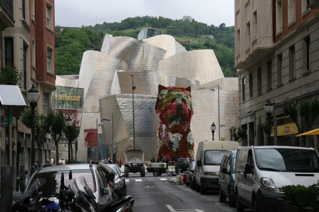The Guggenheim Bilbao integrated into its urban environment