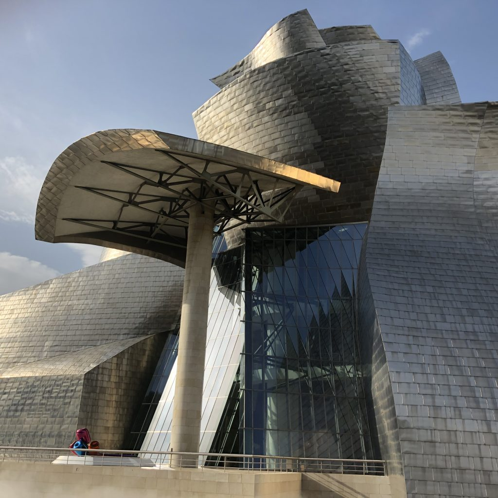 Facade detail Guggenheim Bilbao of Frank Gehry