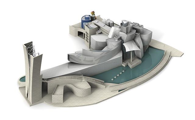 3D design of the Guggenheim Bilbao Photo: Peggy Marco