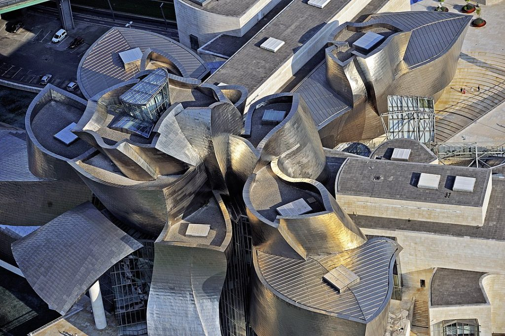 Aerial view of the Guggenheim Bilbao